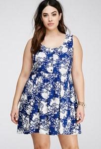10 Nuevos modelos de vestidos de fiesta para gorditas con flores (10)