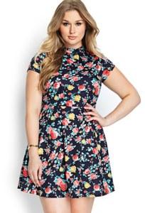 10 Nuevos modelos de vestidos de fiesta para gorditas con flores (9)
