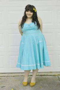10 vestidos de fiesta para gorditas azul turquesa (9)