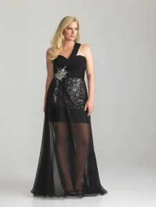 10 hermosos vestidos de fiesta brillantes para gorditas (7)
