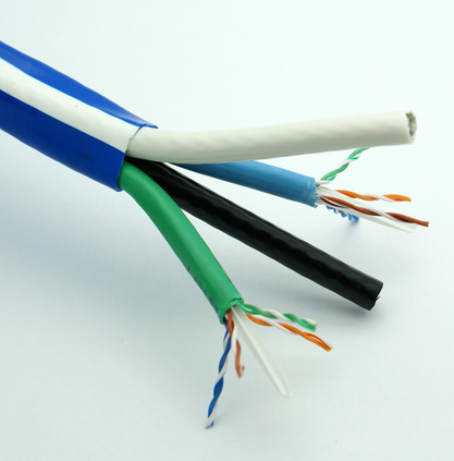 2 x Cat-6 + 2 x RG-6/U Quad Coax Cable (Bulk)