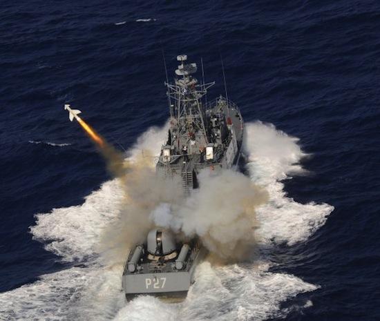 Greece-Navy-Penguin-fire
