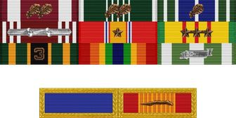 First Sergeant Rick Brennan39s Army Medal Rack Veterans