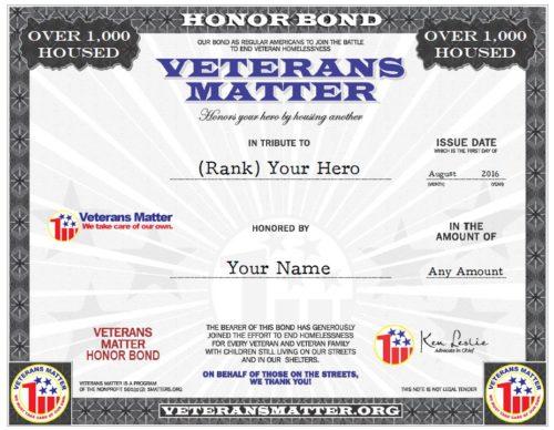 Honor Bond VM Only 080416