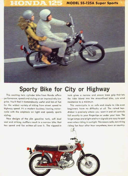 ss125jpg (510×700) mine! Pinterest Honda and Honda bikes - advertisement brochure