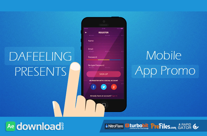 MOBILE APP PROMO (VIDEOHIVE) - FREE DOWNLOAD - Free After Effects - Free App Template