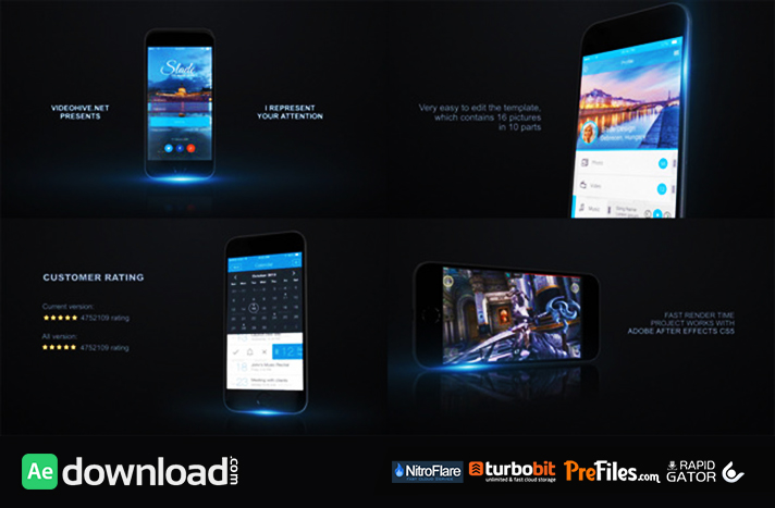 MOBILE APP PROMO KIT (VIDEOHIVE PROJECT) - FREE DOWNLOAD - Free - free app template