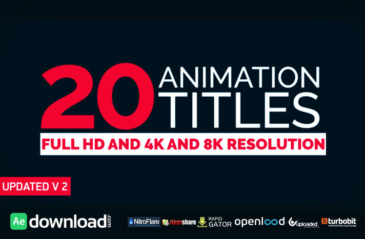 20 TITLE ANIMATION VIDEOHIVE TEMPLATE FREE DOWNLOAD - Free After