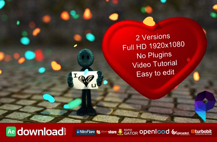 I LOVE YOU FREE DOWNLOAD VIDEOHIVE TEMPLATE - Free After Effects