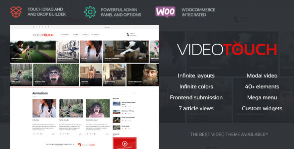 VideoTouch v17 \u2013 Video WordPress Theme Free Download - Free After