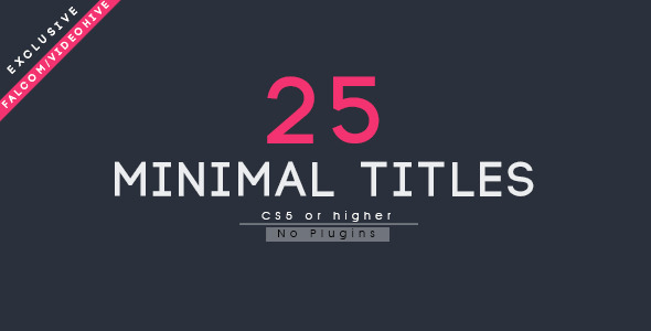VIDEOHIVE 25 MINIMAL TITLES 12812169 - AFTER EFFECTS TEMPLATES