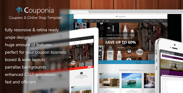 Couponia \u2013 Coupons  Online Shop Template Free Download - Free After