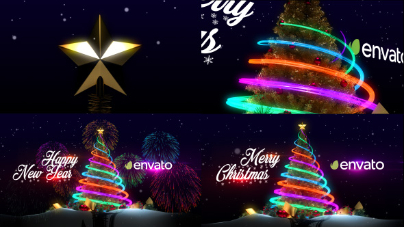 VIDEOHIVE CHRISTMAS TREE  NEW YEAR GREETINGS FREE DOWNLOAD - Free