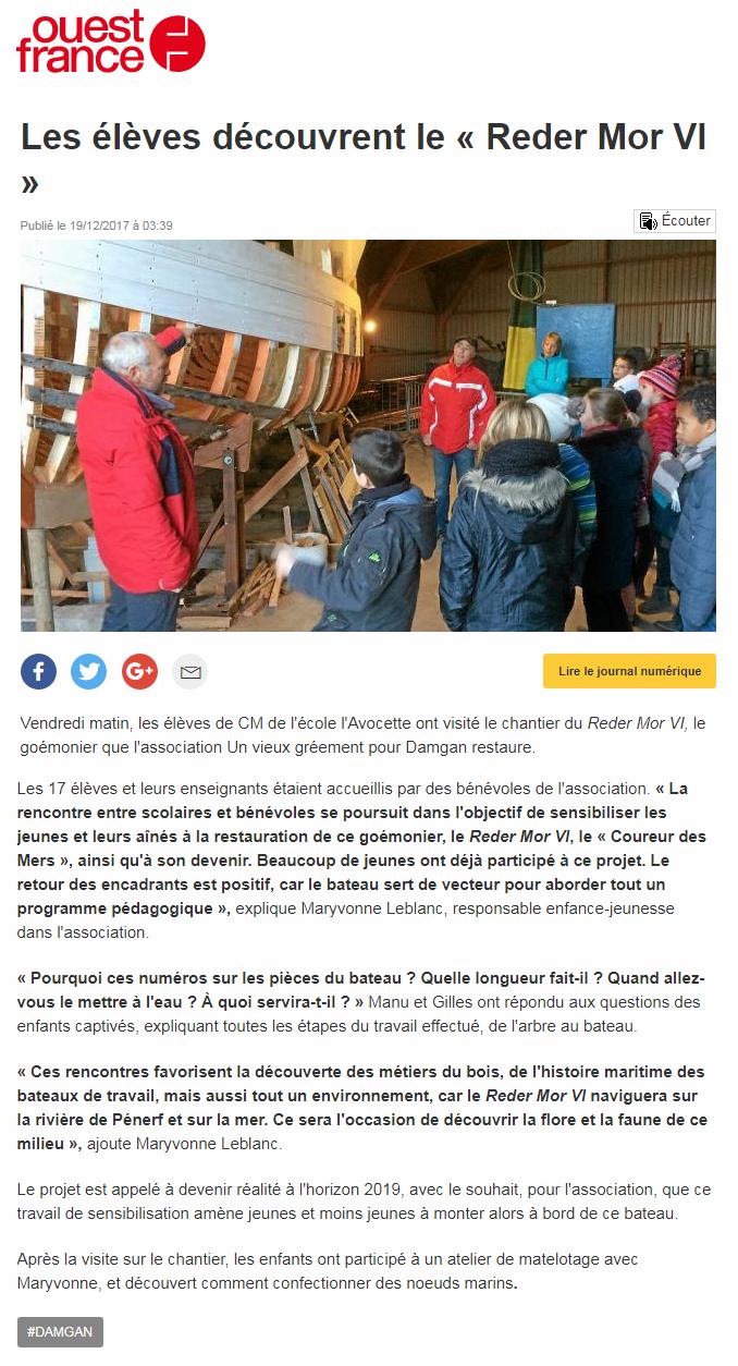 ouest france avocette 19 12 2017 rm6
