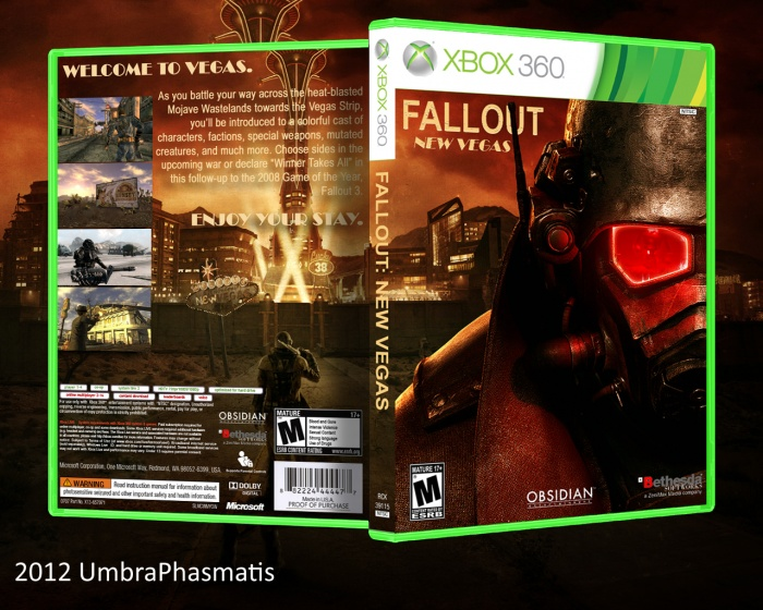 Fall Out Boy Android Wallpaper Fallout New Vegas Xbox 360 Box Art Cover By Umbraphasmatis
