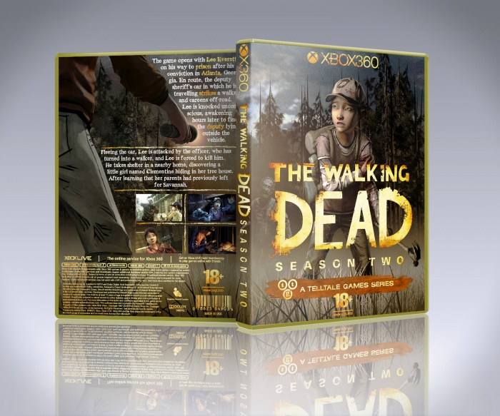 Pc Games The Walking Dead Season 2 Xbox 360 Box Art Cover By