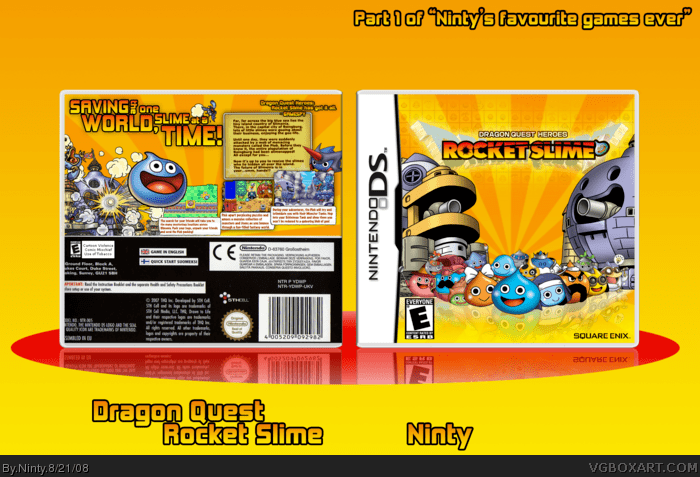 Amazon Quest Dragon Quest: Rocket Slime Nintendo Ds Box Art Cover By Ninty
