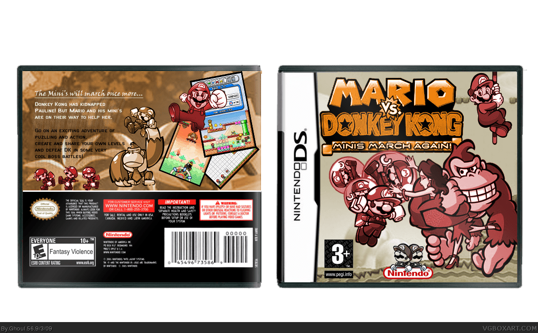 Mario Vs Donkey Kong For Gba Mario Vs Donkey Kong Minis March Again Nintendo Ds Box
