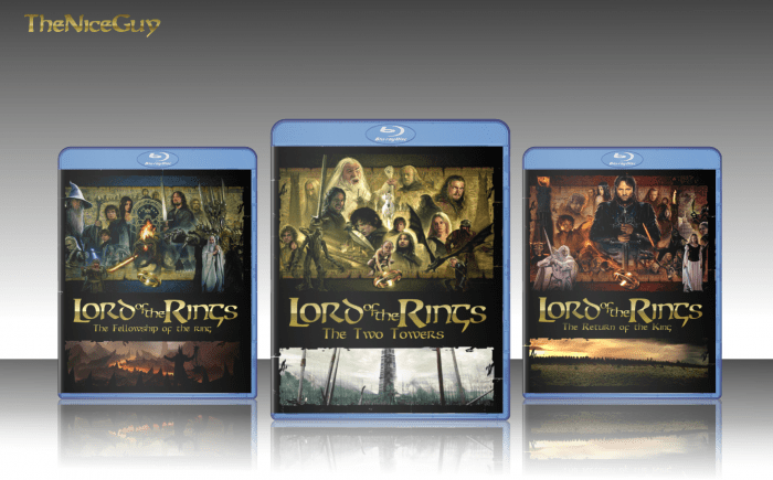 The Lord Of The Rings Collection Movies Box Art Cover By