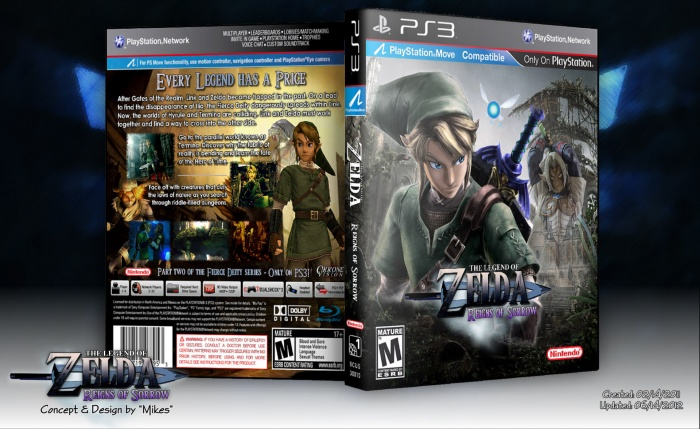 The Legend of Zelda: Reigns of Sorrow PlayStation 3 Box Art Cover by Mikes