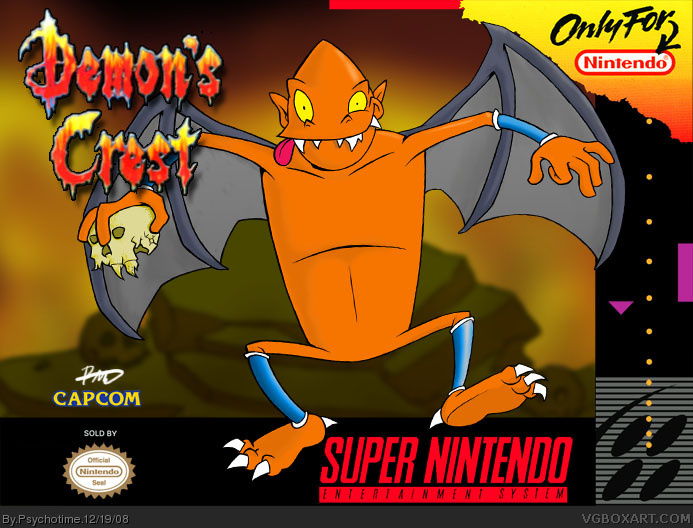 Pc Games Demon's Crest Snes Box Art Cover By Psychotime