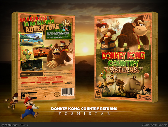 Donkey Kong Country Returns Wii Box Art Cover By Yoshistar