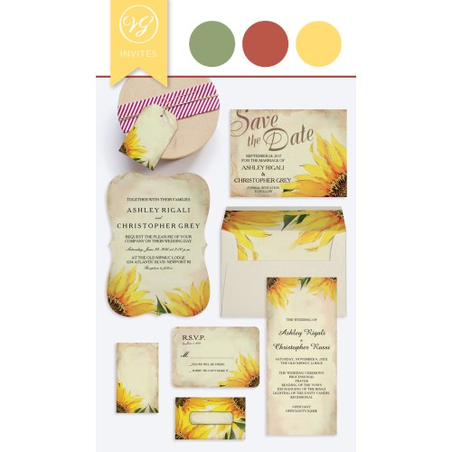 Medium Crop Of Sunflower Wedding Invitations