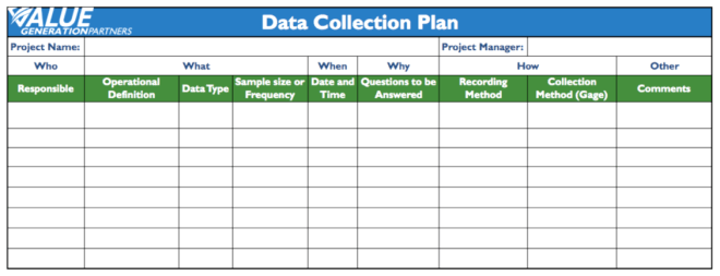 data collection plan template excel