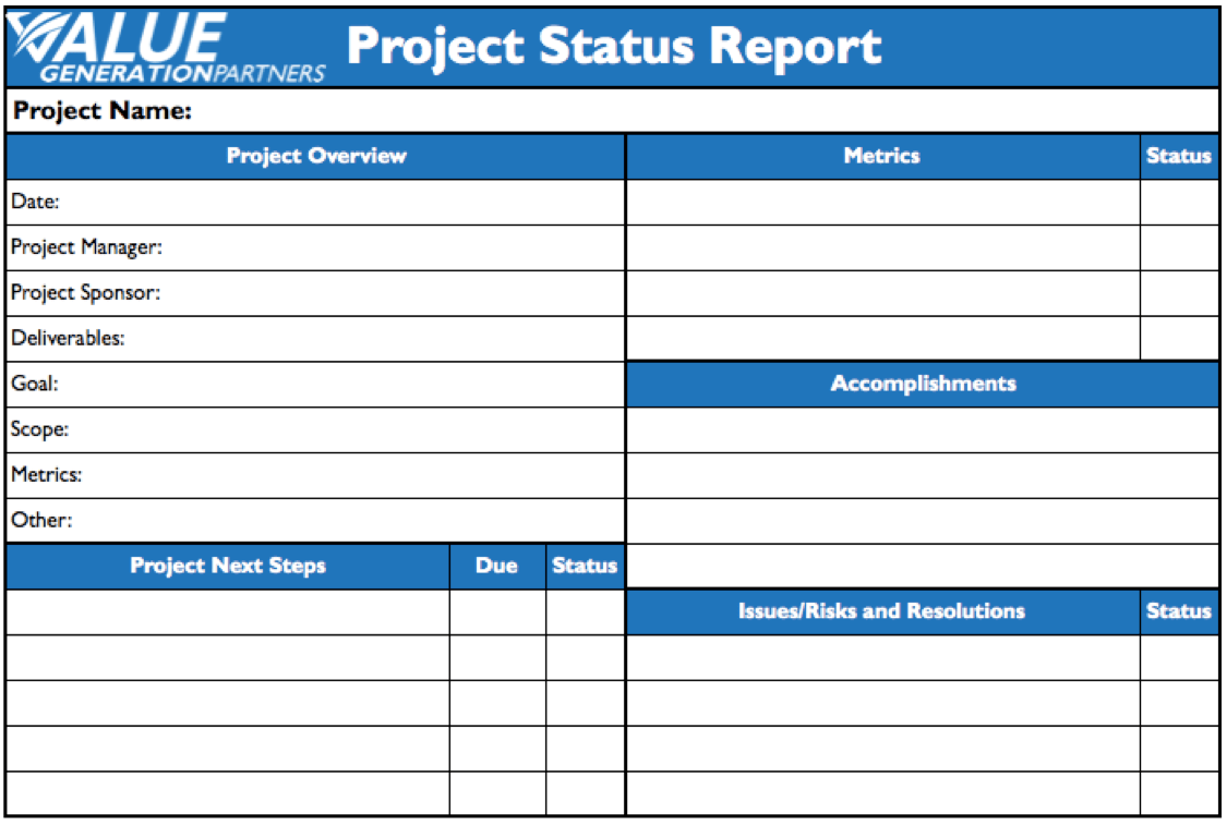 Status Update Report Template Report Template Best And