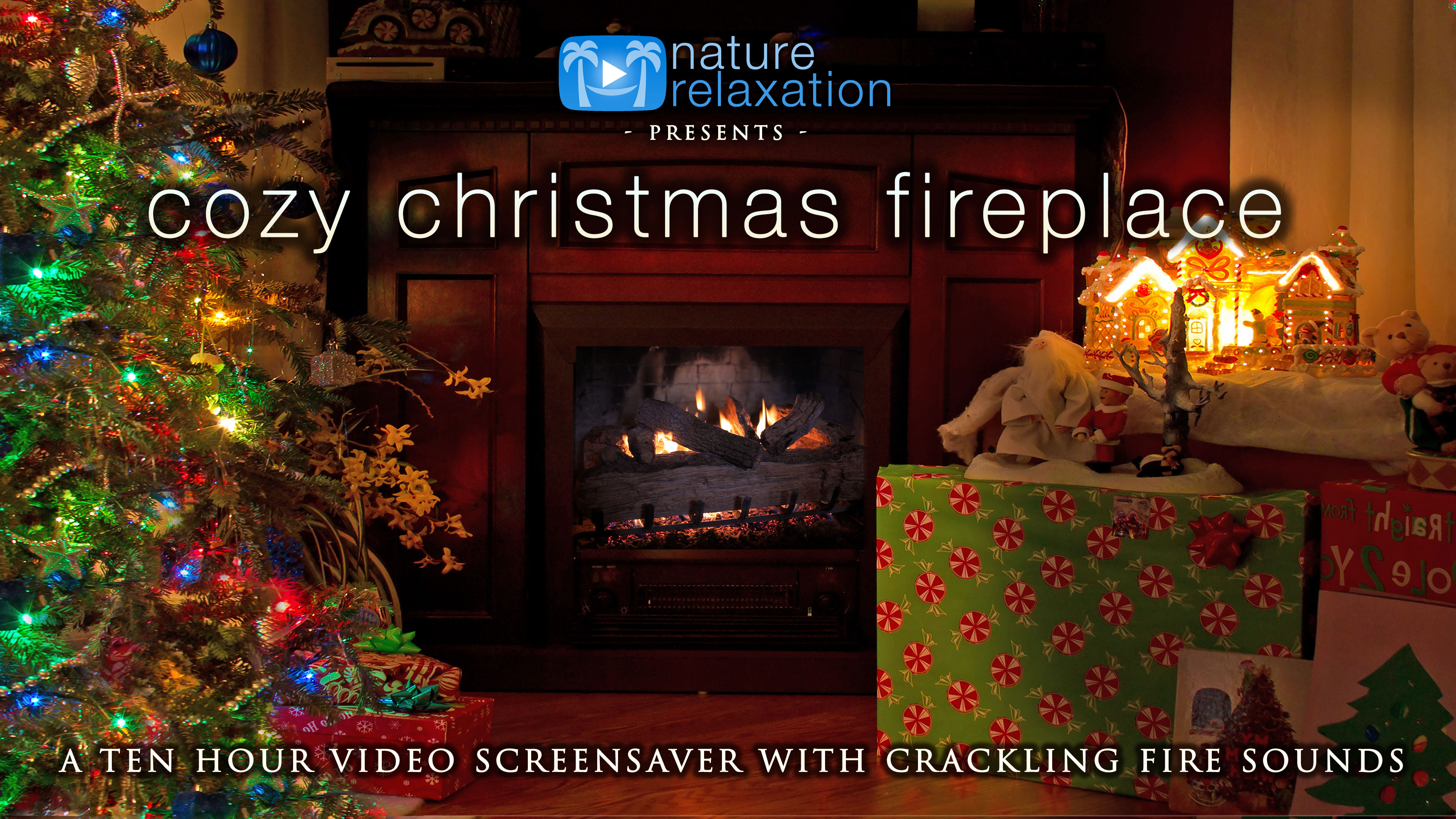 Fireplace Sounds Cozy Christmas Fireplace 2hr Static Scene W Sounds Fireplace