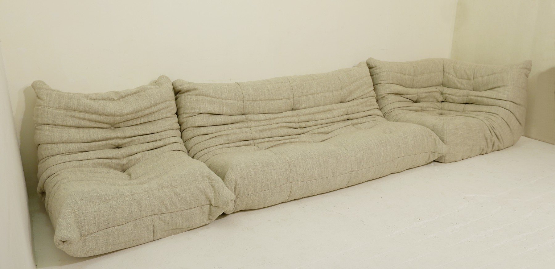 Sofa Set Action Togo Sofa Set By Michel Ducaroy For Ligne Roset New Upholstery