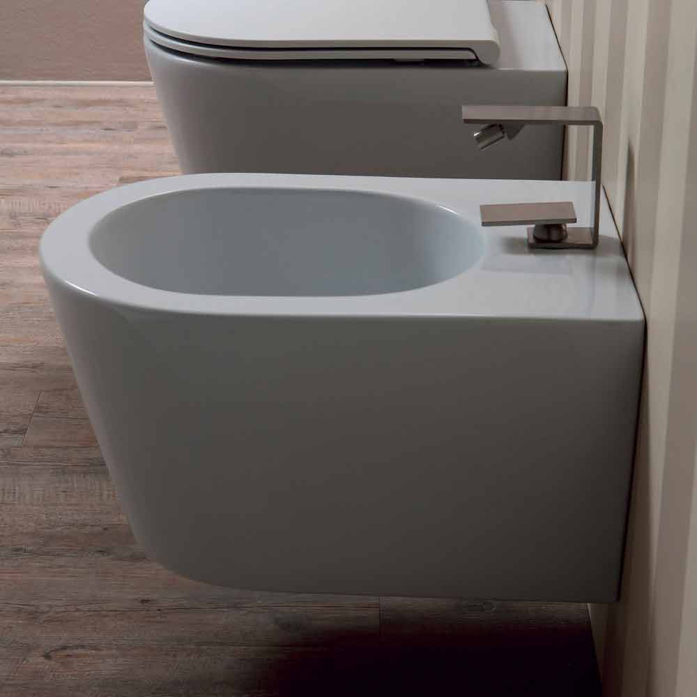 Bidet Italie Suspended Design Ceramic Bidet Sun Round 57x37cm Made In Italy