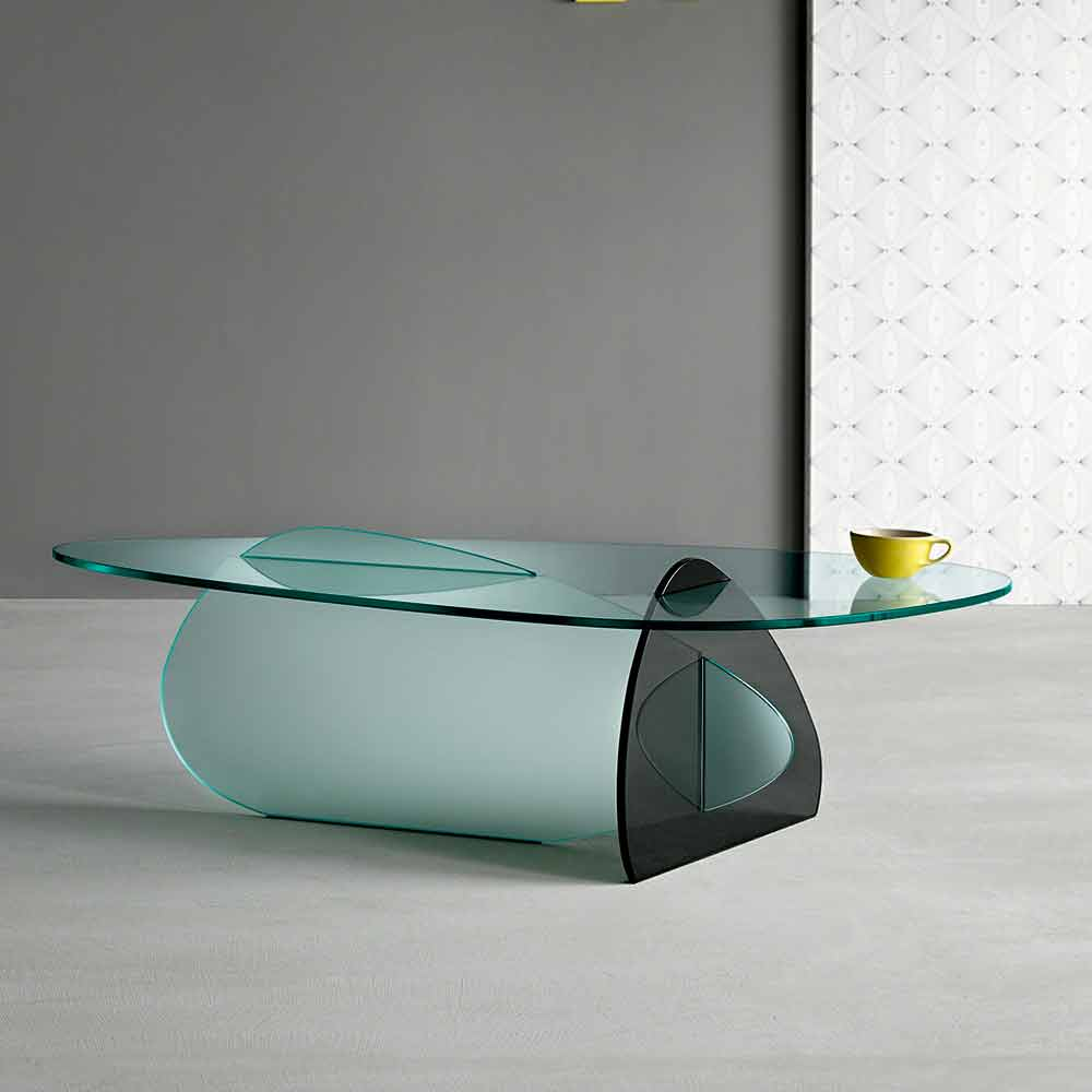 Modernes Design Glas Couchtisch Made In Italy