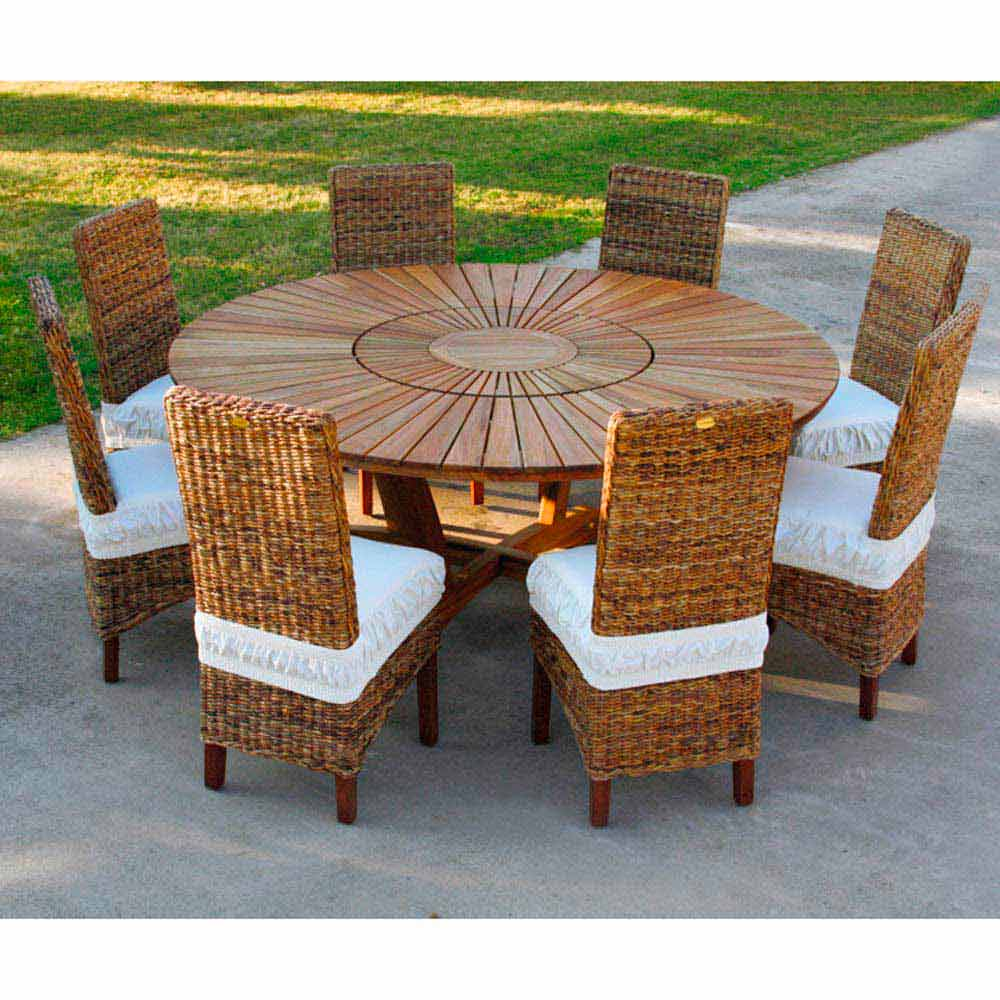 Table Exterieur Ronde Grande Table Ronde De Jardin En Teak Massif Real Table