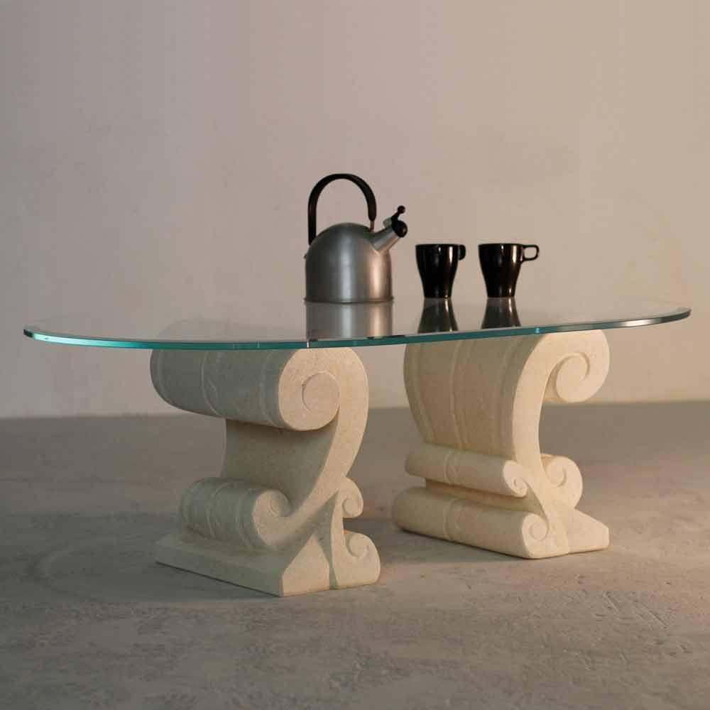 Tavolini Da Salotto In Vetro Ovali | Cameron Tavolino Da Salotto In ...