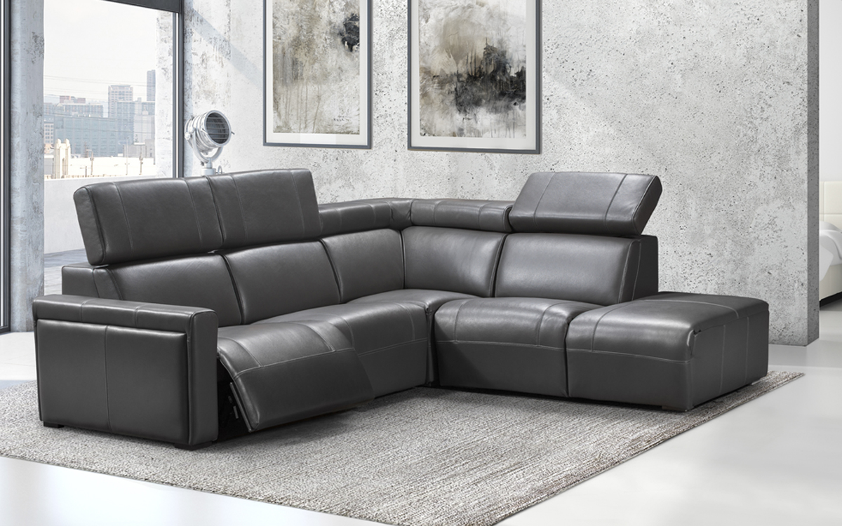 Genuine Leather Sectional Canada Via Furniture