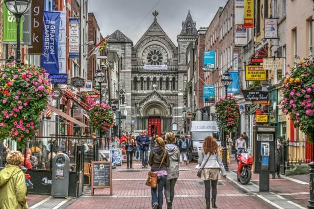 Grafton Street, a famosa rua de compras em Dublin