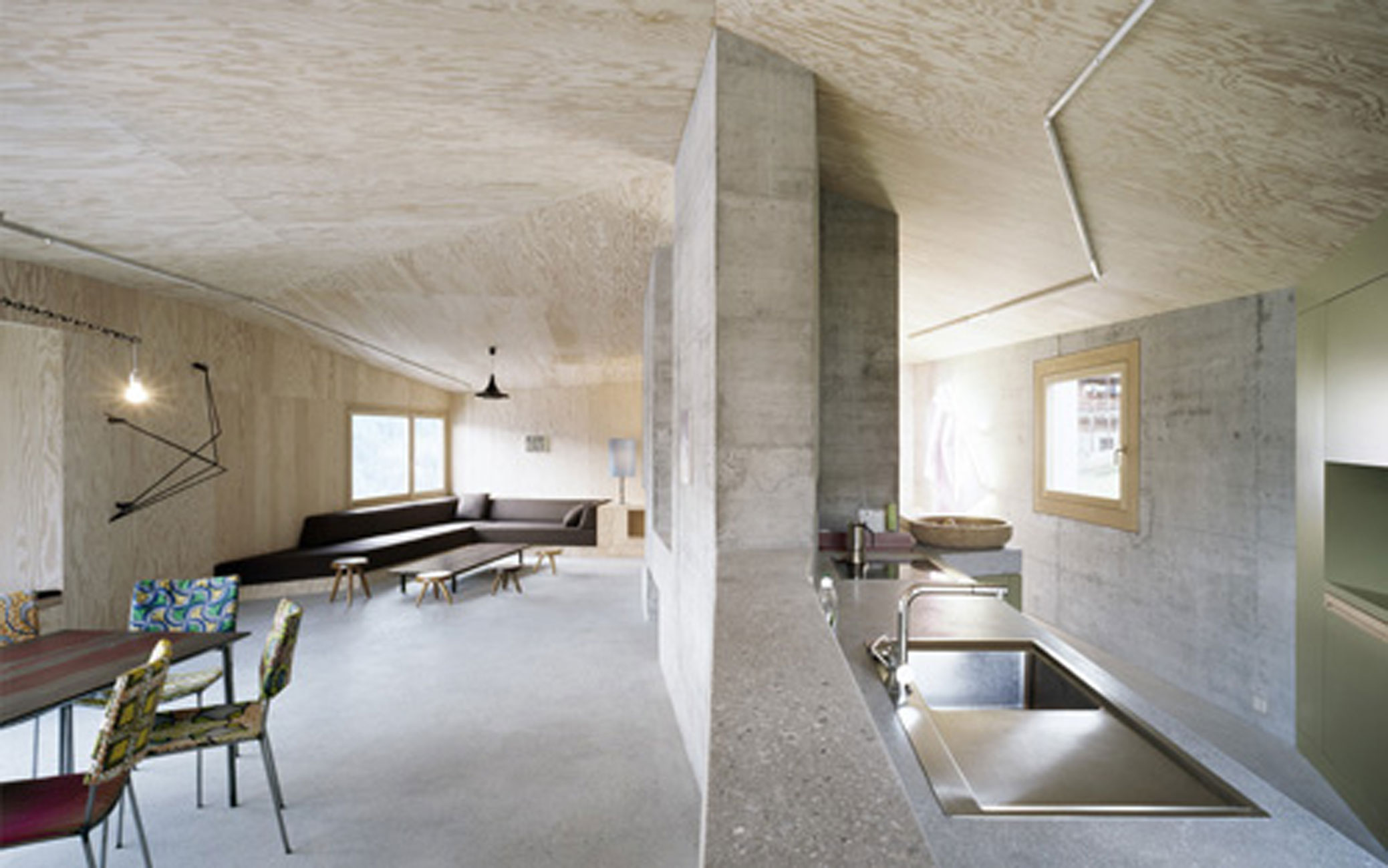 Berlin Interior Design Solid Concrete House Architecture And Minimalist Interior Design