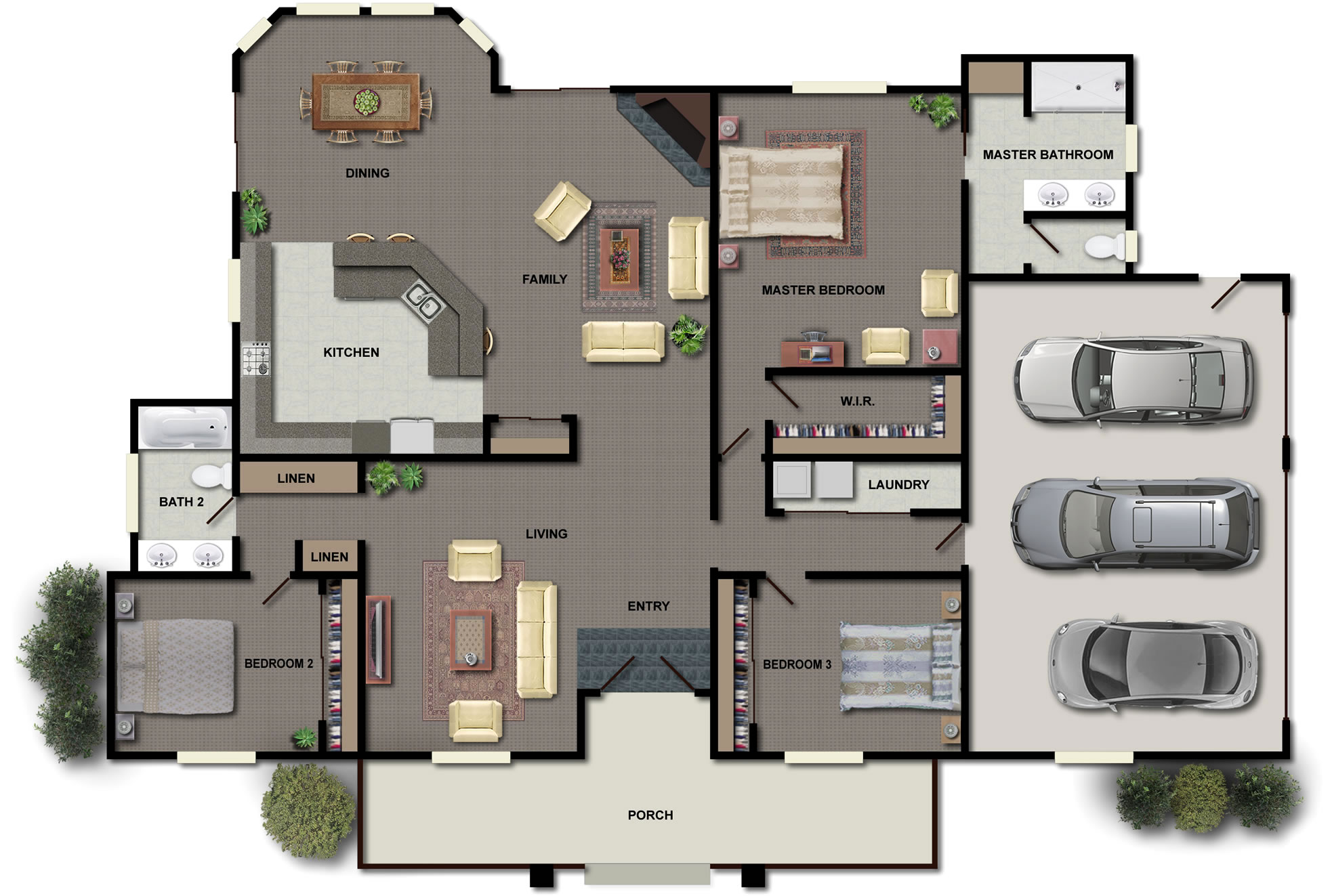 Floor Plan House Cozy Big House Floor Plan