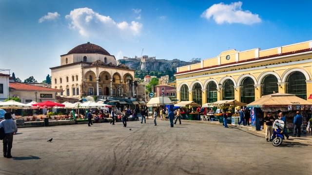 Atenas_Monastiraki_Viajando bem e barato pela Europa