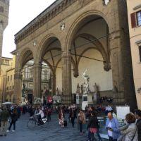 La loggia della signoria en Florencia.