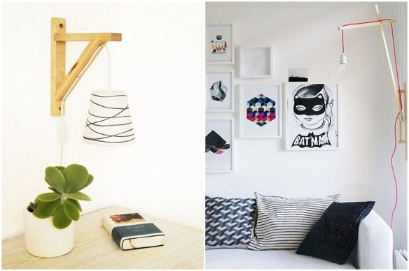 suporte luminaria madeira ripas suporte parede ideias criatividade diy faca voce mesmo 2