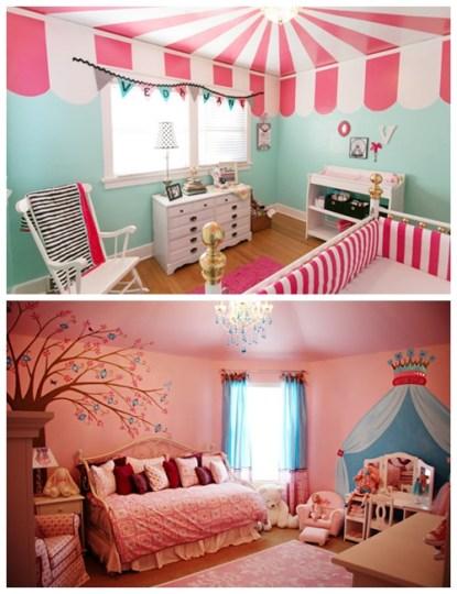 quarto bebe menina decoracao teto
