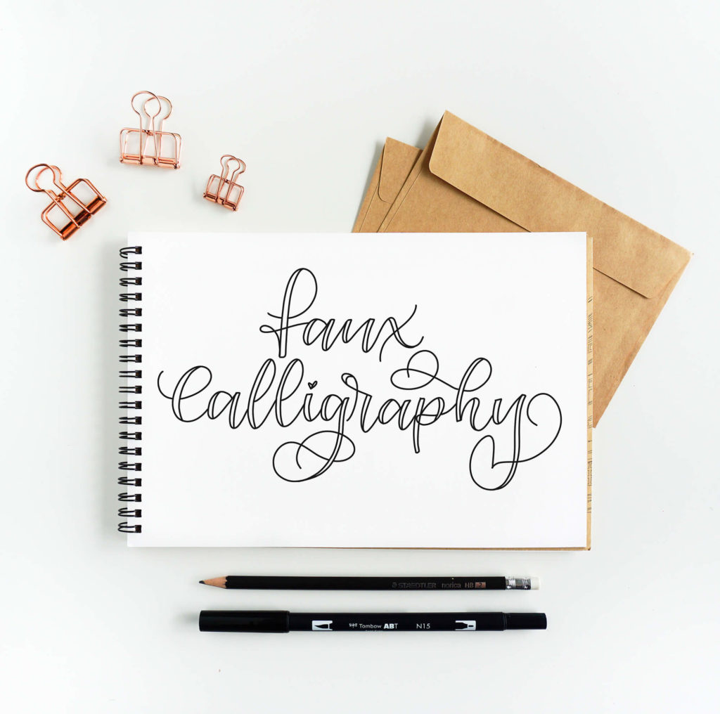 K Modern Calligraphy Faux Calligraphy Tutorial Free Faux Calligraphy Worksheet Vial