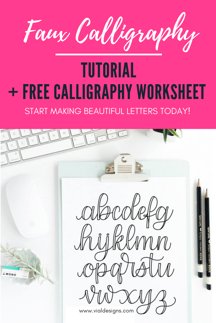 Fake Calligraphy M Faux Calligraphy Tutorial Free Faux Calligraphy Worksheet Vial