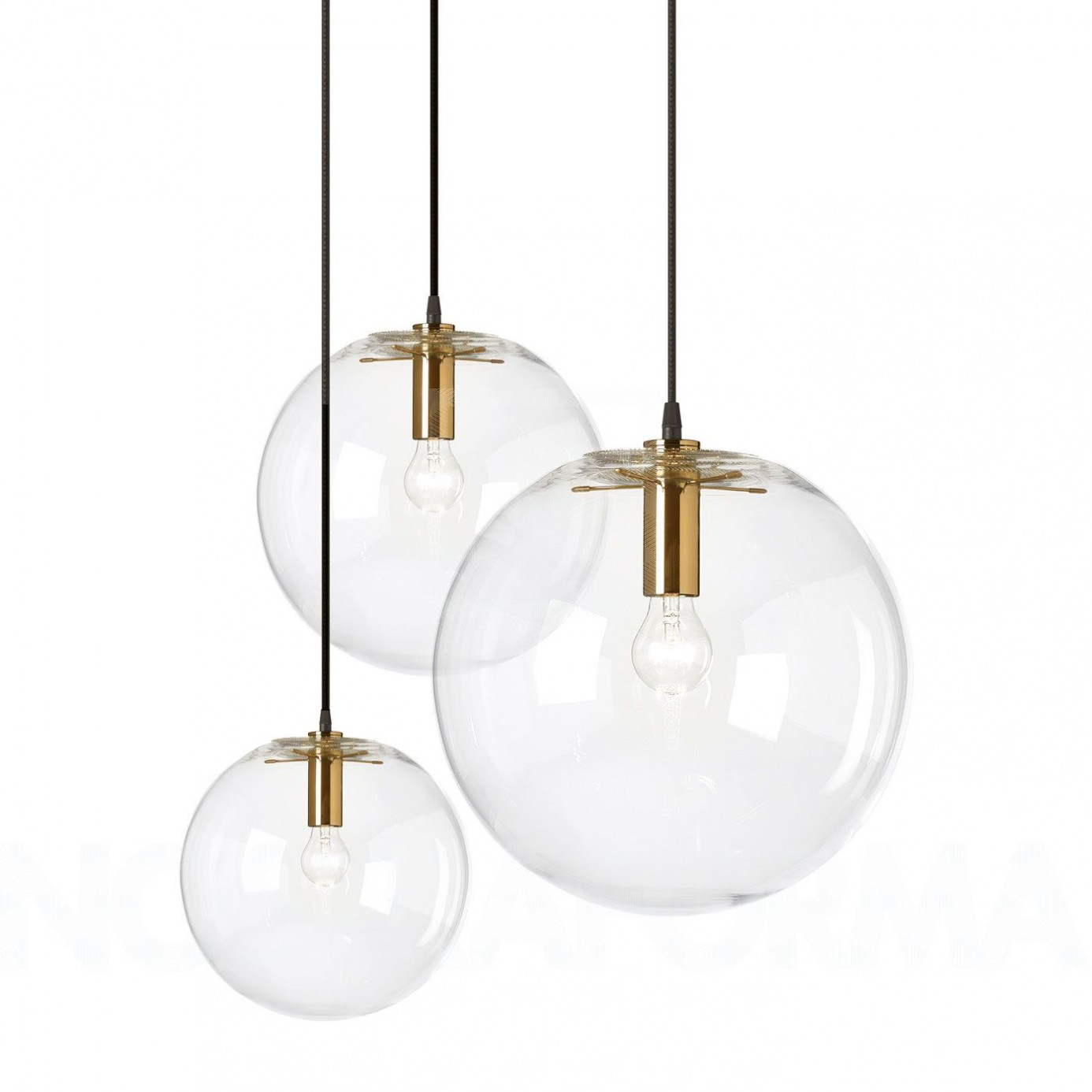 Lampe Glaskugel Classicon Selene Brass Pendant Lamp Modern And Contemporary