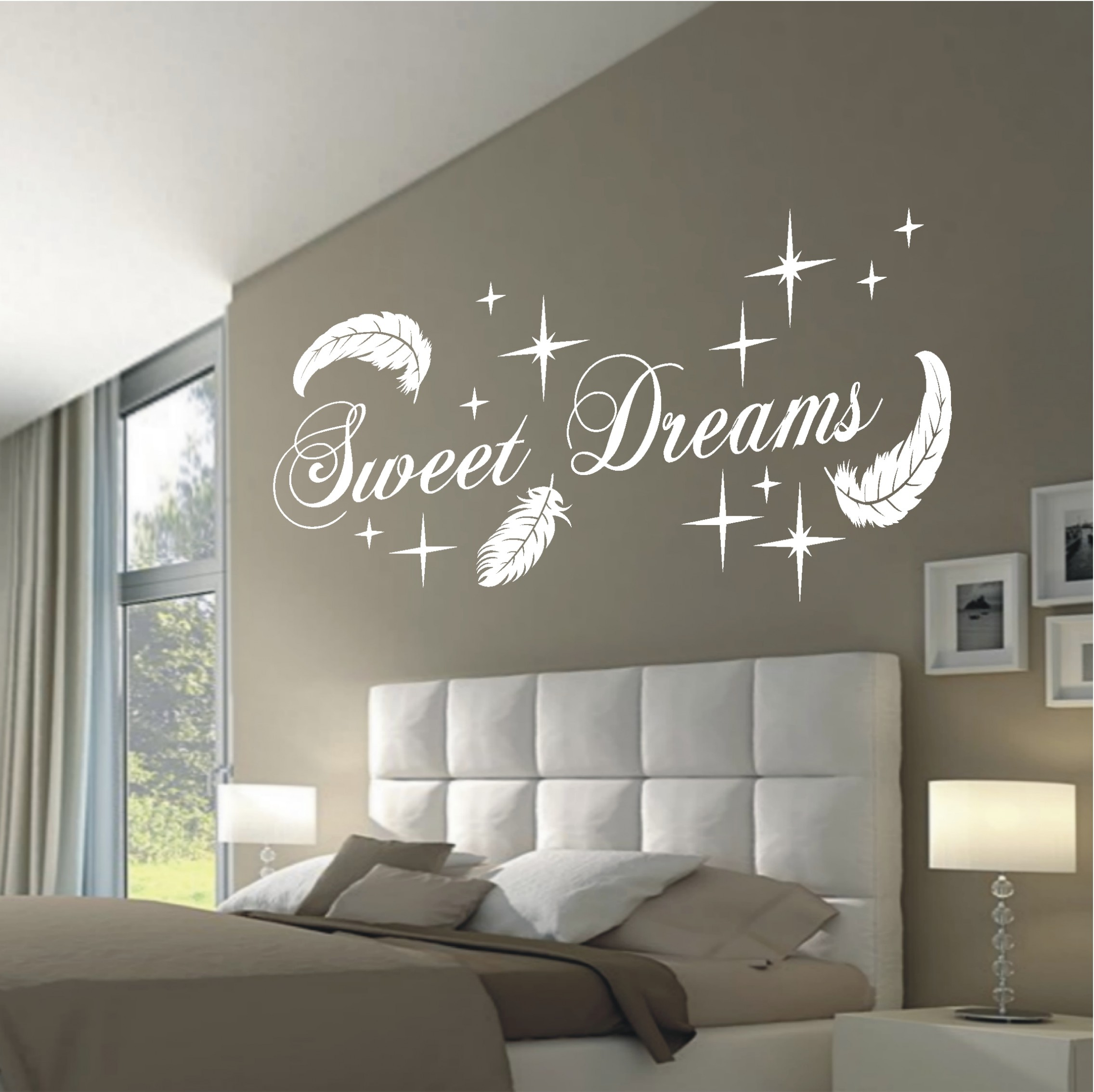 Wandschablone Küche Deko Shop 24 Wandtattoo Sweet Dreams Federn Deko Shop 24