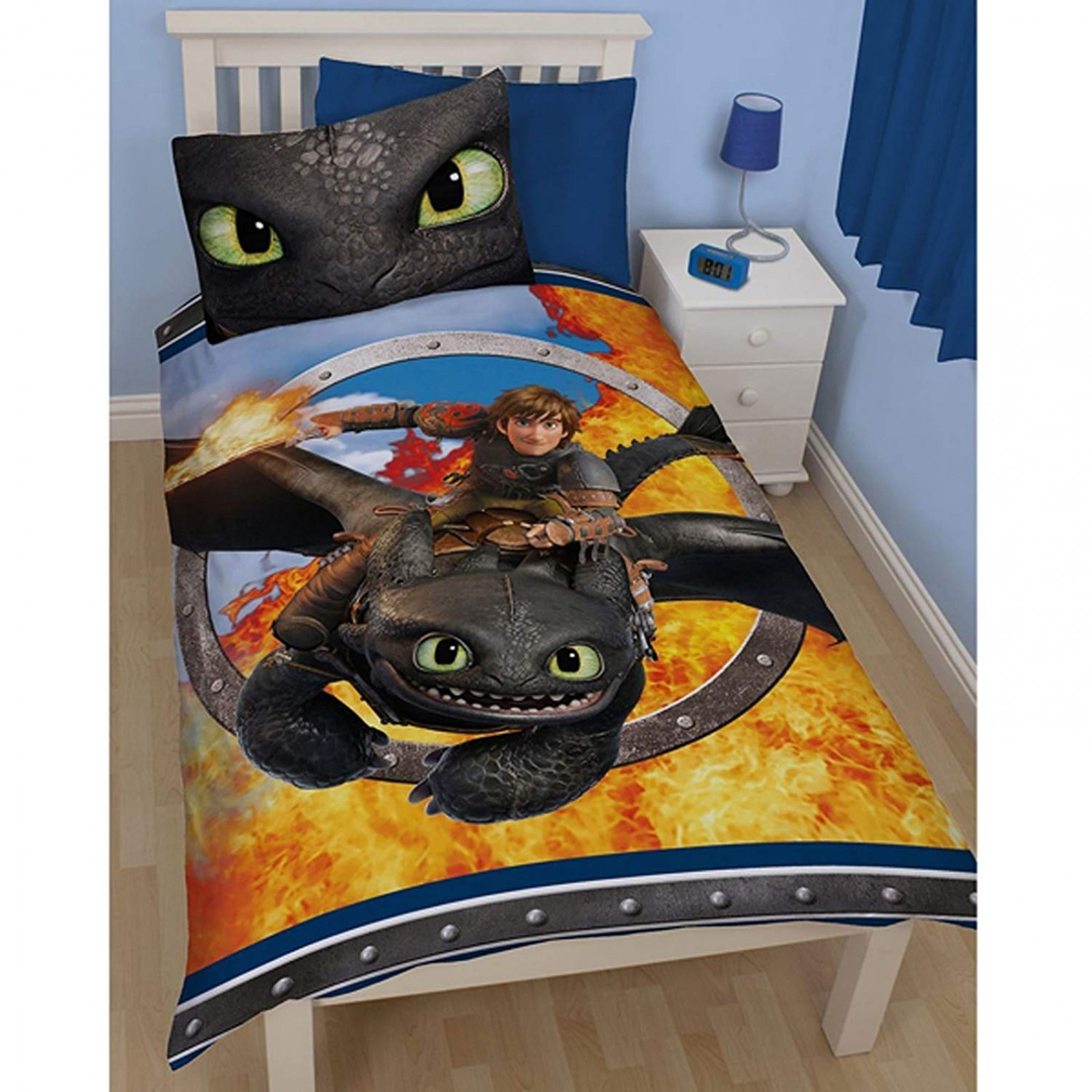 Bettwäsche 80x80 Dreamworks Bettwäsche Dragons Toothless 135 X 200 Cm 80 X 80 Cm