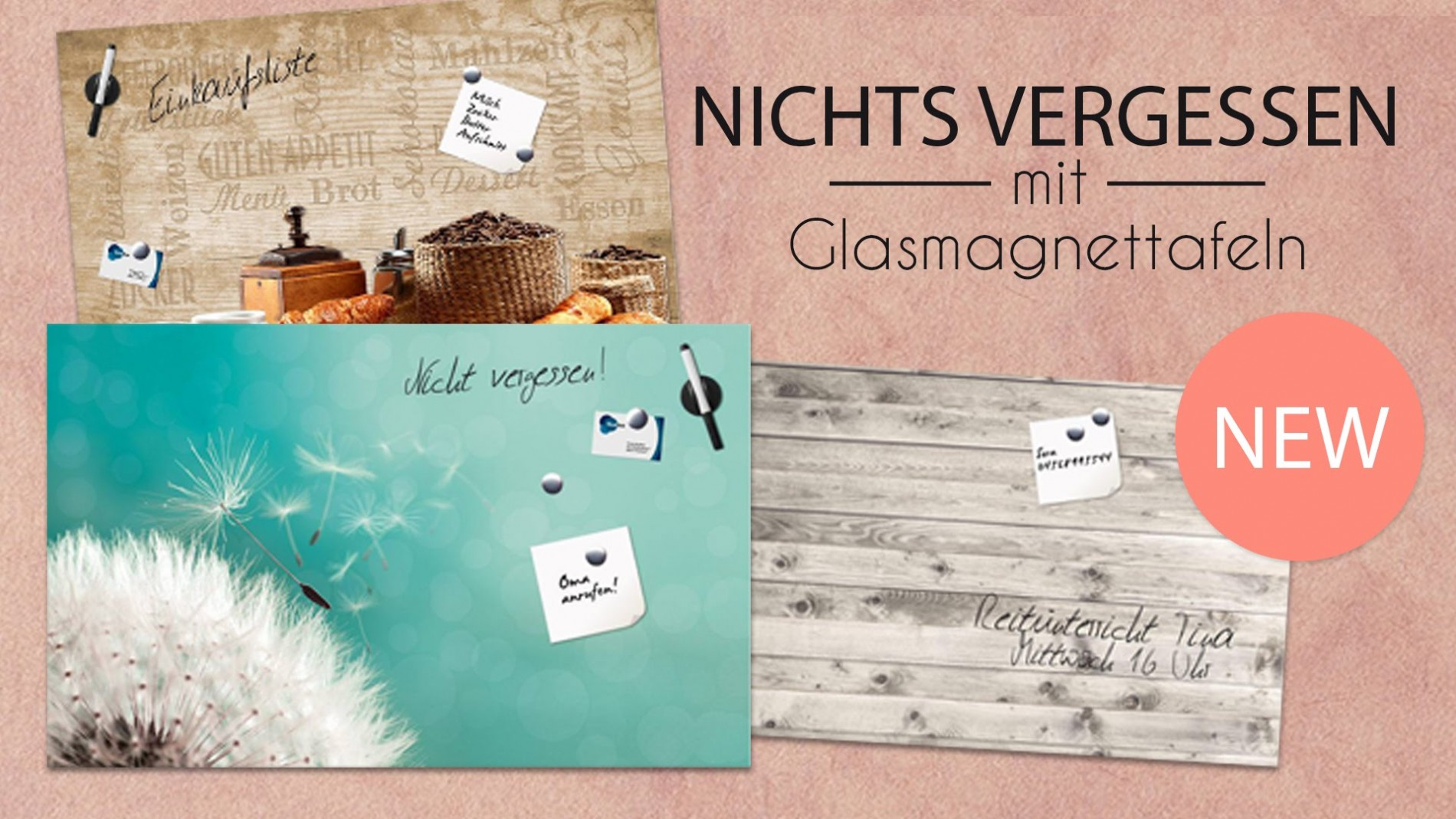 Glas Magnetwand Glas Magnettafel Memoboard Magnetboard New In Vianova Project