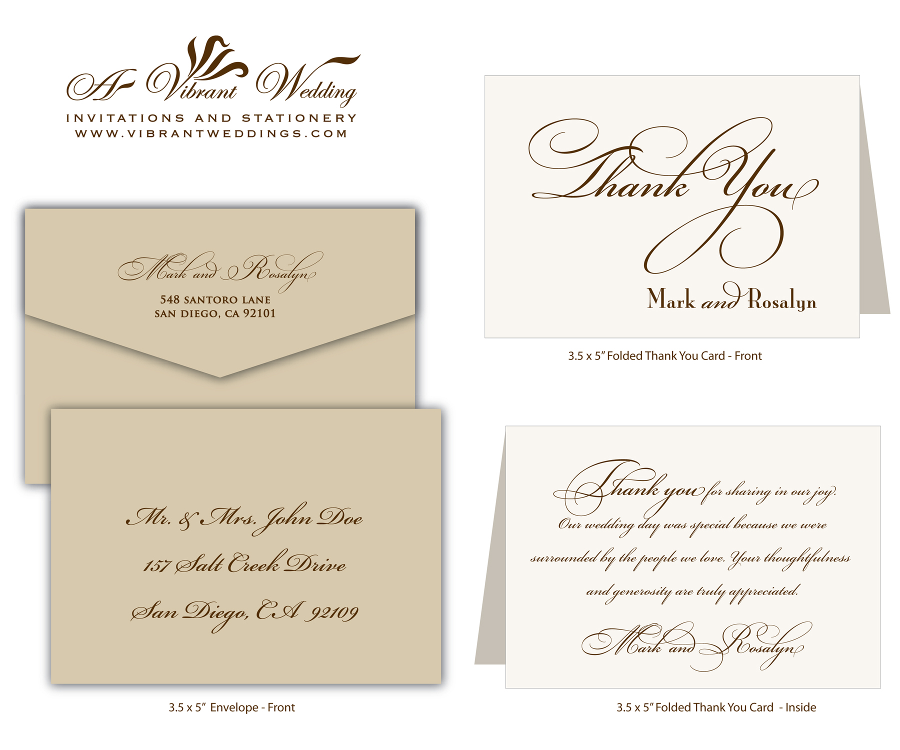 Wedding Thank You Note Wording Samples – Wedding Thank You Card Sample